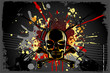 Grungy Skull Background