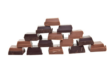 Chocolate pyramide from the front