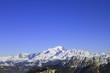 Le Mont-Blanc dans un ciel azur