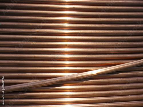 Leinwandbild Motiv Kupfer Kabel - Metall Herstellung