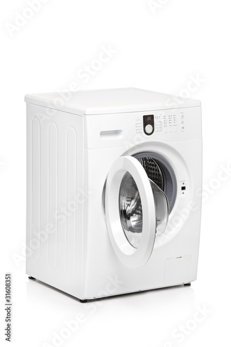 A view of a washing machine