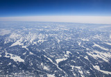 High altitude view of the frozen tundra in Arctic Canada poster