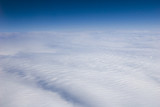 High altitude view of clouds. poster