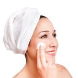 Facial skincare anti-ageing exfoliation poster