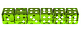 Line of Green Dice