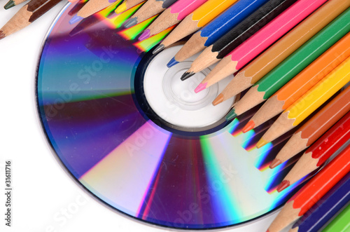 color pencil and DVD