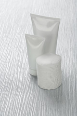 tubes with cotton pads
