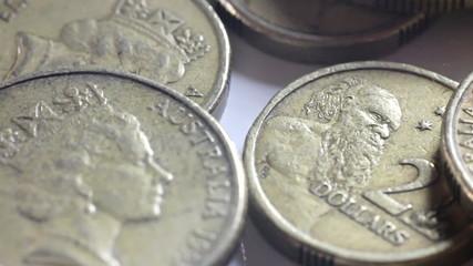 Falling Australian Gold Coins