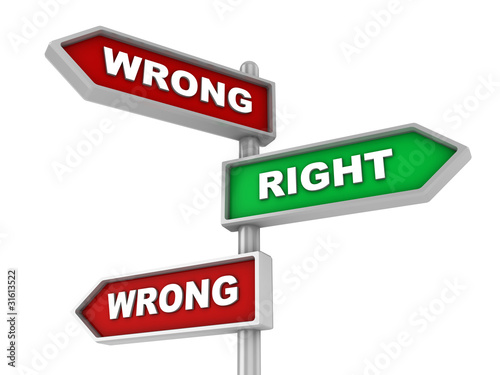 wrong or right way