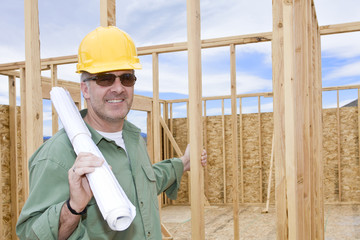 Smiling Mature Construction Manager