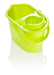 isolated yellow bucket