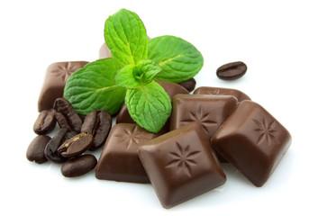 Segments of chocolate