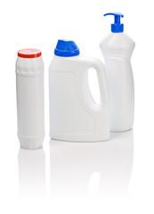 white kitchen bottles isolated