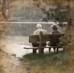 coppia di anziani vintage