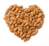 heart made from almonds