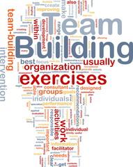 Team building is bone background concept