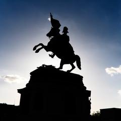 silhouette reiterdenkmal heldenplatz wien