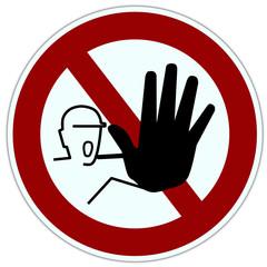 Verbotszeichen. Durchgang ist Verboten
