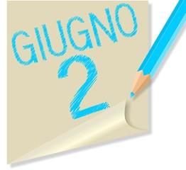 Post it 2 Giugno, festa della Repubblica