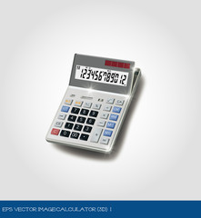 eps Vector image:calculator (3d) 1