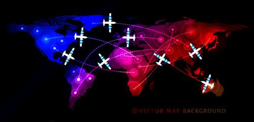 Map witn airplane