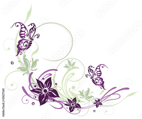 fr hling ranke flora blumen bl ten filigran lila violett stockfotos und lizenzfreie. Black Bedroom Furniture Sets. Home Design Ideas