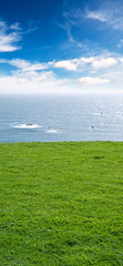 sky ocean land