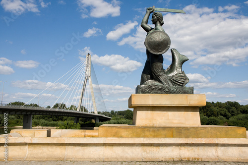 Zdjęcia na płótnie, fototapety, obrazy : The Warsaw Mermaid called Syrenka