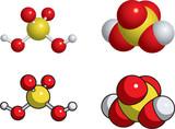 Sulfuric acid molecule poster
