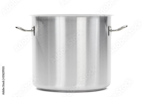 metal cooker pot isolated - 31629930