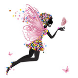 Fototapety Flower Fairy with butterfly