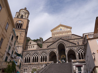 The Duomo or cathedral in Amalfi in Campania,Southern Italy