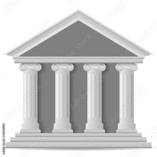 Bank icon, vector eps version 8