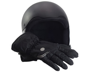 Protective helmet  and gloves