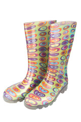 Pair of women's  rubber boot