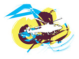 Helicopter. Vector illustration