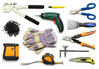 Drywall tools isolated