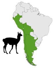 Guanako Verbreitung