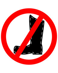 Lederstiefel verboten