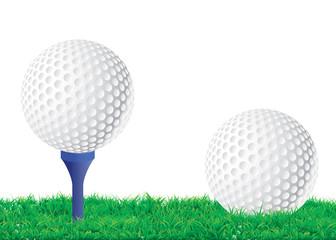 Balle de golf su le green