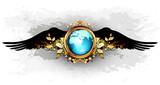 world with ornate frame