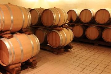 Weinkeller Barrique Holzfässer Rotwein,Elsass,Frankreich