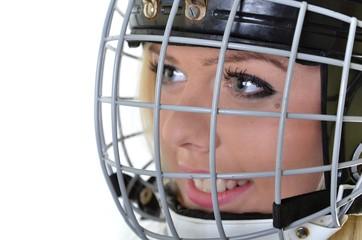 woman hockey player