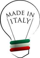 Made in Italy logo white