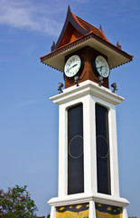 Thai style clock tower