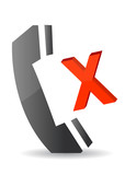 missed call illustration icon