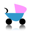 Abstract baby carriage