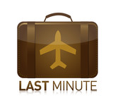 last minute luggage airplane symbol