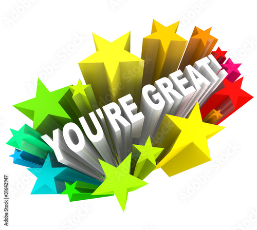 You're Great - Praise Words for Success
