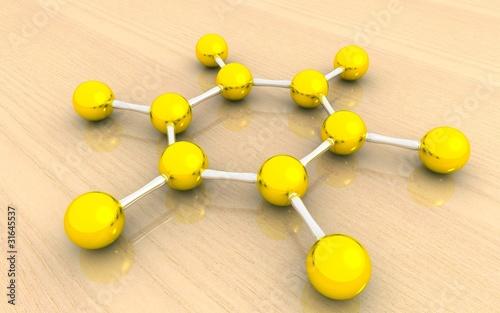 Molecular structure of benzene © niranjancreatnz
